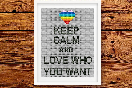 Keep Calm and Love Who You Want Цитата