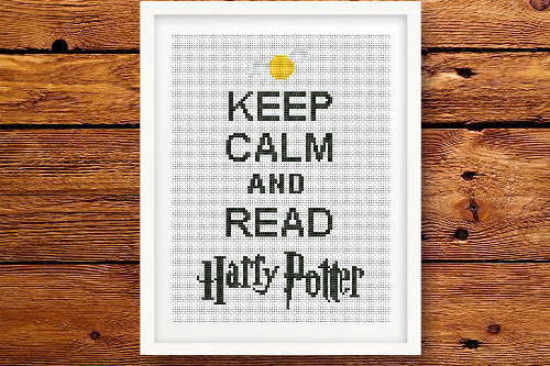 Keep Calm and Read Harry Potter цитата