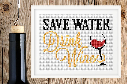 Save Water - Drink Wine фраза